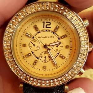 Michael Kors leather wrist watch